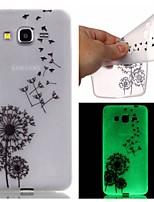 For Samsung Galaxy Case Glow in the Dark / Pattern Case Back Cover Case Dandelion TPU SamsungJ3 / J1 Ace / Grand Prime / Grand Neo / Core