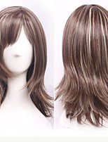 Mix Color Women Lady Middle Long Synthetic Hair Wigs