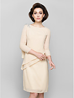 Women's Wrap Shrugs 3/4-Length Sleeve Chiffon Champagne Wedding / Party/Evening Scoop 39cm Draped Pullover