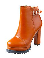 Women's Shoes  Chunky Heel Bootie Boots Casual Black / Brown