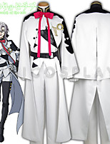 Seraph of the End Owari No Serafu Ferid Bathory Cosplay Costume White Outfit Vampire Uniform Full Set With Cloak