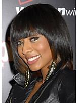 couleur noire courts perruques synthétiques droites de la femme