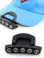 2015 new ,Adjustable Angle clip cap lamp on the 5 LED Fishing bait  cap lamp CR2032 battery