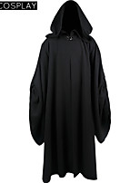 Star Wars Emperor Palpatine Darth Sidious Black Cloak Cosplay Costume