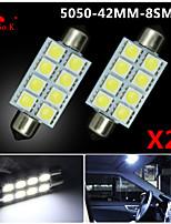 20 X White 41MM 5050 8SMD Festoon Dome Map Interior LED Light bulbs DE3423 6418