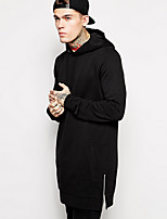 Man Almirah Necessary Article Men's Plus Size Sports Plus Size Casual Hoodie Solid Hooded Micro-elastic Cotton Long Sleeve Fall Winter