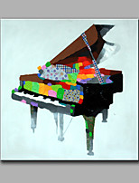 Single Modern Abstract Pure Hand Draw Frameless Decorative Painting The Piano