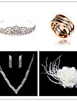 Wedding Suit(Headdress & Necklace & Earrings& Ring & Brooch)