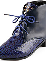 Women's Shoes Synthetic Chunky Heel Snow Boots / Motorcycle Boots Boots Office & Career / Casual Black / Blue / Red
