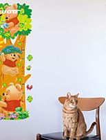 Cartoon  Bear Height Measurement Wall Sticker Kindergarten Children's Room   Wall Decoration