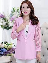 Fashion Women's Hollowing Long Sleeve Casual / Work Blazer Shirt Tops