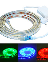 Jiawen 200cm waterdichte 12w 120-5050smd 8-modus rgb led flexibele licht strip (AC110 ~ 220V)