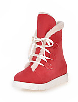 Women's Shoes Platform Round Toe / Closed Toe Boots Outdoor / Casual Black / Yellow / Red / Beige