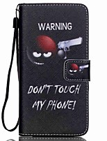 For Samsung Galaxy Case Card Holder / Wallet / with Stand / Flip / Pattern Case Full Body Case Word / Phrase PU Leather SamsungGrand