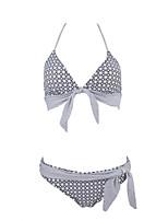 Bikini Da donna Fantasia floreale / Fantasia geometrica Push-up / Senza bretelline / Imbottito All'americana Nylon / Elastene / Felpato