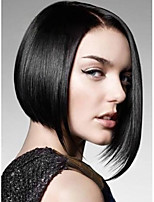 Middle Straight Hair European Weave Black Color Hair Wig