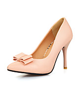 Women's Shoes PVC / Leatherette Stiletto Heel Heels Heels Wedding / Office & Career / Dress / Casual Black / Pink