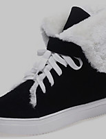 Women's Shoes Suede Flat Heel Snow Boots / Fashion Boots Boots Office & Career / Dress / Casual Black / Blue