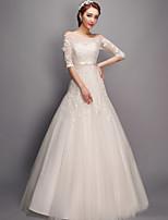 웨딩 드레스 - 아이보리(색상은 모니터에 따라 다를 수 있음) 트럼펫/멀메이드 바닥 길이 바토 튤
