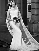 Wedding Veil One-tier Fingertip Veils / Chapel Veils / Cathedral Veils Lace Applique Edge
