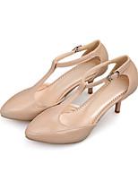 Women's Heels Basic Pump Spring Summer Synthetic Microfiber PU Wedding Dress Party & Evening Office & Career Buckle Stiletto Heel Gray