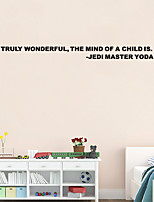 W-18 YODA STAR WARS WALL STICKER Jedi Master Sticker Truly Wonderful Vinyl Decal