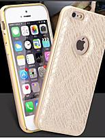 Pour Coque iPhone 6 Coques iPhone 6 Plus Motif Coque Coque Arrière Coque Carreaux Dur Cuir PU pouriPhone 6s Plus iPhone 6 Plus iPhone 6s