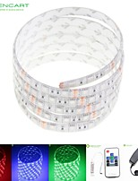 5M 75W 300x5050 RGB SMD LED DC12V IP68 Waterproof Strip Light + 10Key Remote Control RGB + 12V 2A power AC100-240V