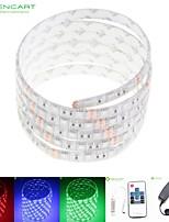 5m 75w 300x5050 RVB SMD LED DC12V bande de lumière étanche IP68 + 10KEY rgb de contrôle à distance + 12v 2a alimentation 100-240V