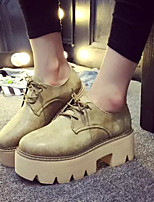 Women's Shoes Leatherette Chunky Heel Platform / Fashion Boots / Combat Boots / Styles Boots Outdoor / Dress / Casual