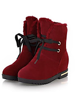 Women's Shoes Leatherette Flat Heel Combat Boots Boots Outdoor / Casual Black / Yellow / Pink / Red