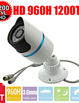 CCTV 24Les IR-Cut 1200TVL 3.6mm 1/3 Sony CMOS HD 960H waterproof Outdoor Bullet Security camera
