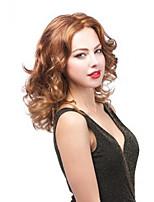 cheveux de longueur moyenne lumière européenne Weave couleur brune perruque de cheveux