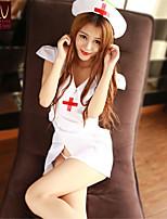 SKLV Women's Polyester Nurse Uniforms Ultra Sexy/Suits Backless Nightwear/Lingerie