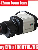 CCTV Sony Effio CCD 1000TVL 960H OSD 2.8-12mm Auto IriS Lens Security Box Camera