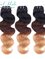 Unprocessed Human Hair Brazilian Virgin Hair Ombre Weave Bundles Hair  Body Weave 3pcs Color 1b 4#27