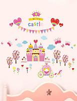 Cute Princess Castle Happy Tree Background Decorative Stickers Children's Room Bedroom