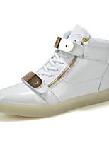 Men's Shoes Outdoor PU Fashion Sneakers Black / White