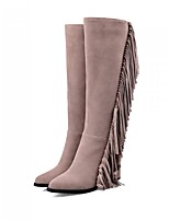Women's Shoes Suede Chunky Heel Fashion Boots Boots Outdoor / Dress / Casual Black / Gray