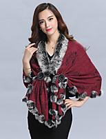Wedding Faux Fur / Imitation Cashmere Capelets Sleeveless Wedding  Wraps / Fur Coats / Hoods & Ponchos