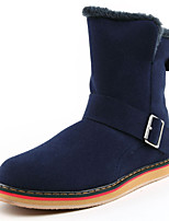 Men's Boots Spring / Fall / Winter Comfort Cowhide Outdoor / Athletic / Casual Flat Heel Zipper Black / Blue / Brown Others