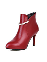 Women's Shoes Stiletto Heel Heels / Pointed Toe Heels / Boots Office & Career / Dress / Casual Black / Red / White