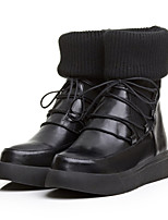 Women's Shoes Low Heel Round Toe / Closed Toe Boots Outdoor / Casual Black / Gray