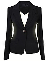 Spring Autumn Women Slim Black Office Suit Jacket Ladies One Button Formal Business Blazer Casual Jackets Puls Size Hot!