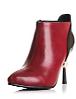 Women's Shoes Stiletto Heel Pointed Toe / Closed Toe Boots Office & Career / Athletic / Dress Black / Red