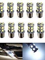 10pcs hry® 1156 13SMD 5050 de freno de color blanco lámpara de la bombilla de señal de vuelta de la cola auto llevó la luz de bulbo del