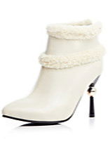 Women's Shoes Stiletto Heel Pointed Toe / Closed Toe Boots Office & Career / Athletic / Dress Black / White