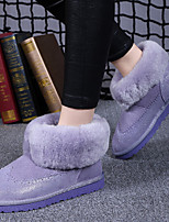 Women's Shoes Suede Flat Heel Snow Boots/Fashion Boots Boots Party & Evening/Dress/Casual Black/Blue /Purple