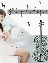 Violin Symbol Music Classroom Wall Stickers
