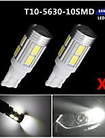 2x T10 blanco 158 194 168 W5W 5730 10 SMD LED luz de la lámpara del bulbo super coche 12v